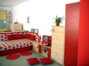 čalouněná postel 110x195 cm s matrací s úložným prostorem, sestava nábytku